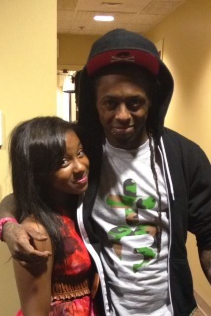 Reginae Carter and Lil Wayne