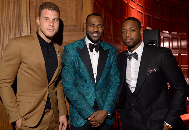Blake Griffin, LeBron James & Dwyane Wade