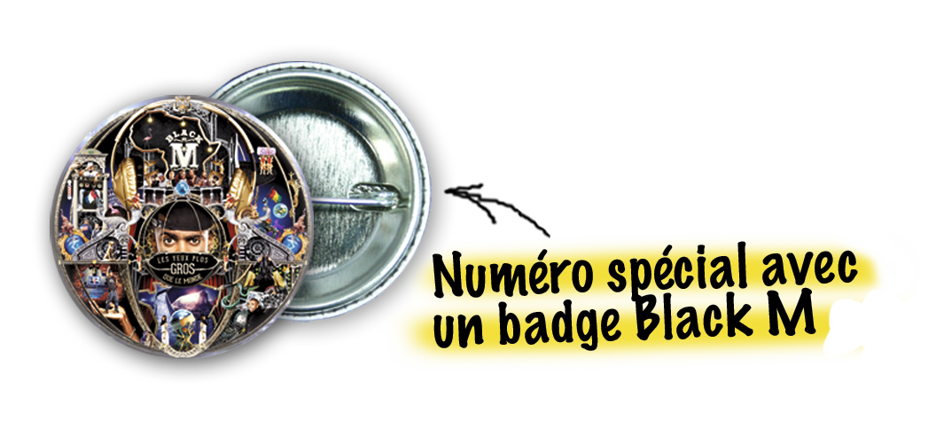 Badge Black M 166