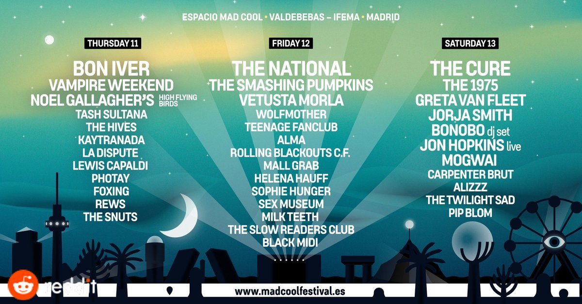 mad cool 2019 madrid