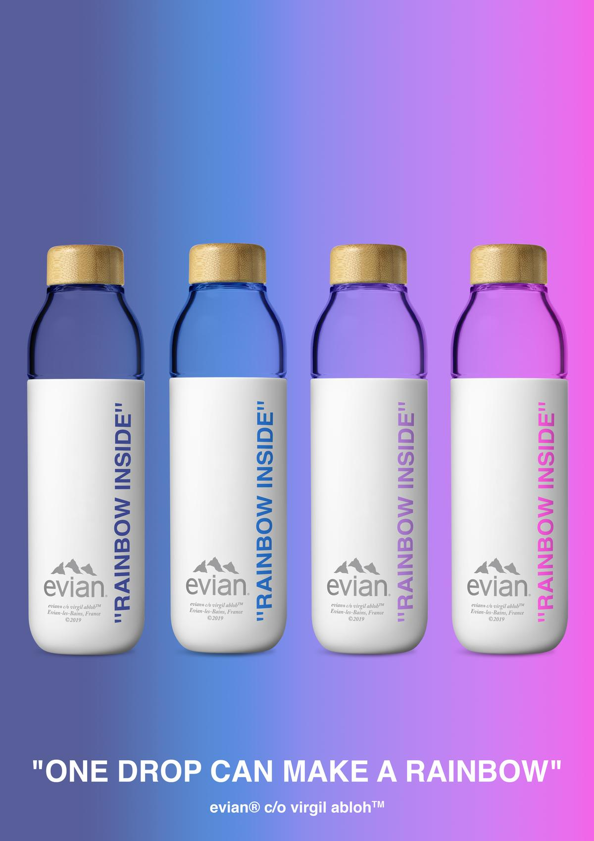 Virgil Abloh x Evian : une nouvelle bouteille eco-friendly disponible ! [Photos]